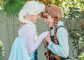 Hire Elsa and Anna for Party | Ice Sisters | Tampa Princess Parties