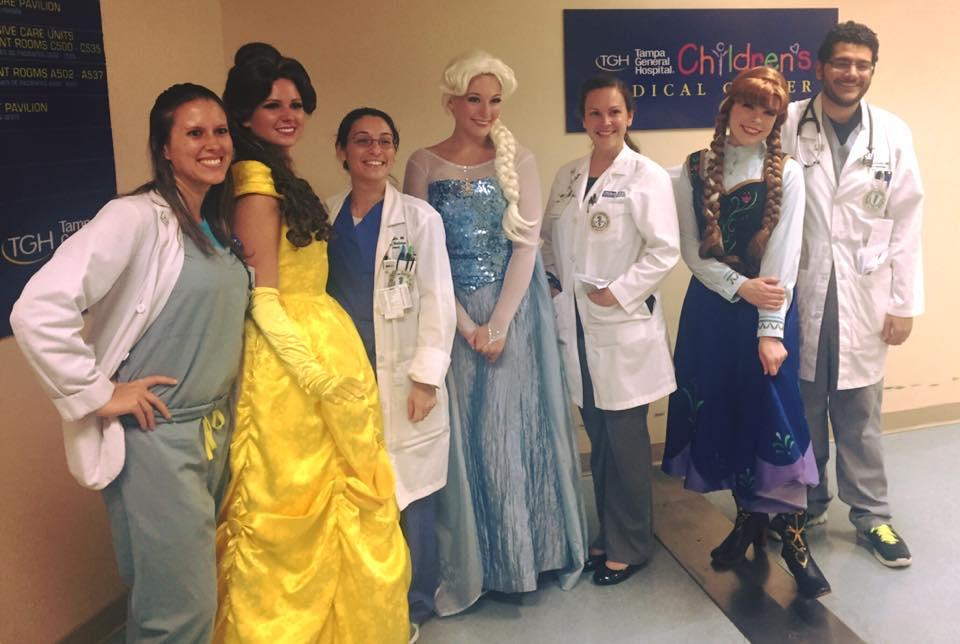 Tampa Princess Party at Tampa General Children's Medical Center